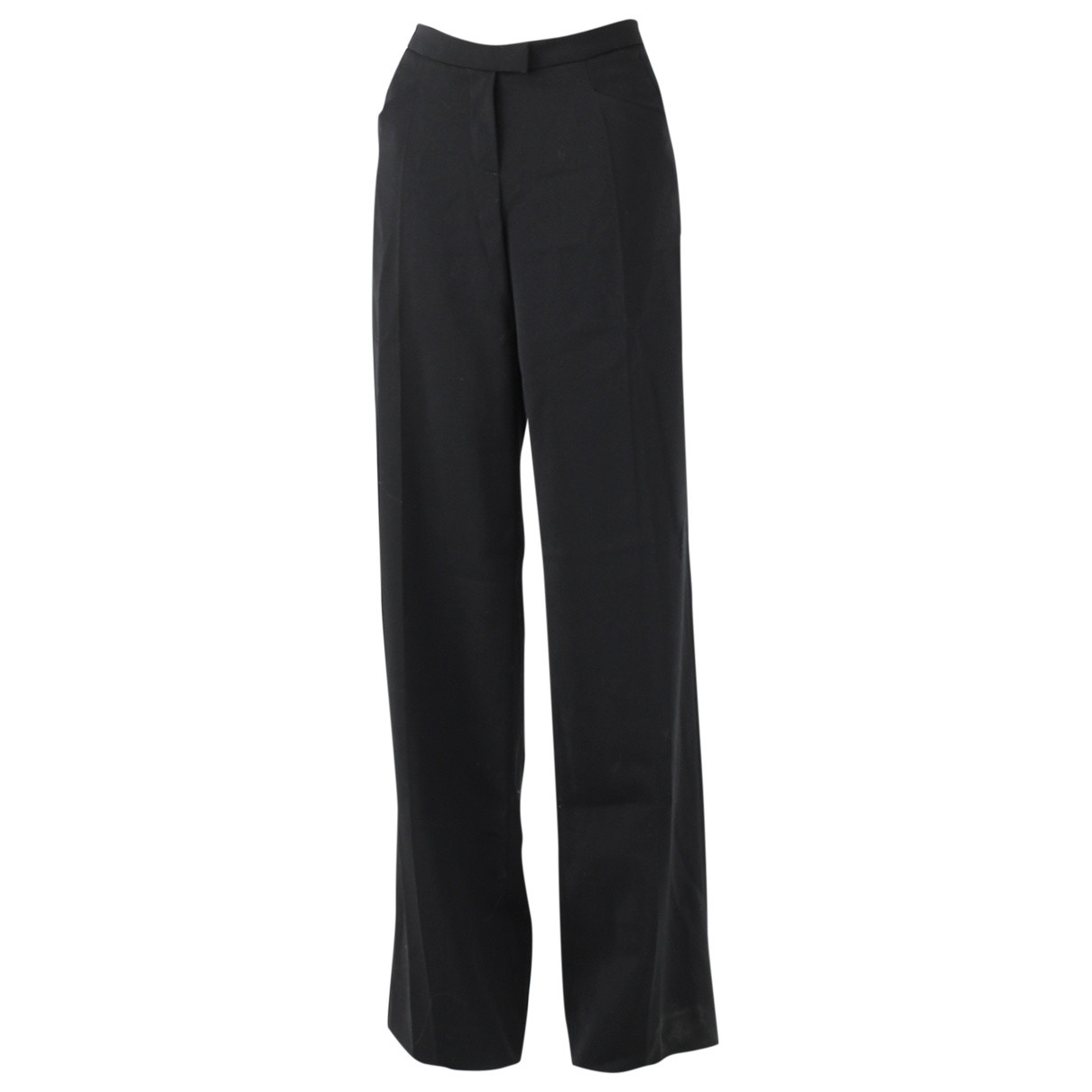 Amanda Wakeley \N Black Wool Trousers for Women 12 UK