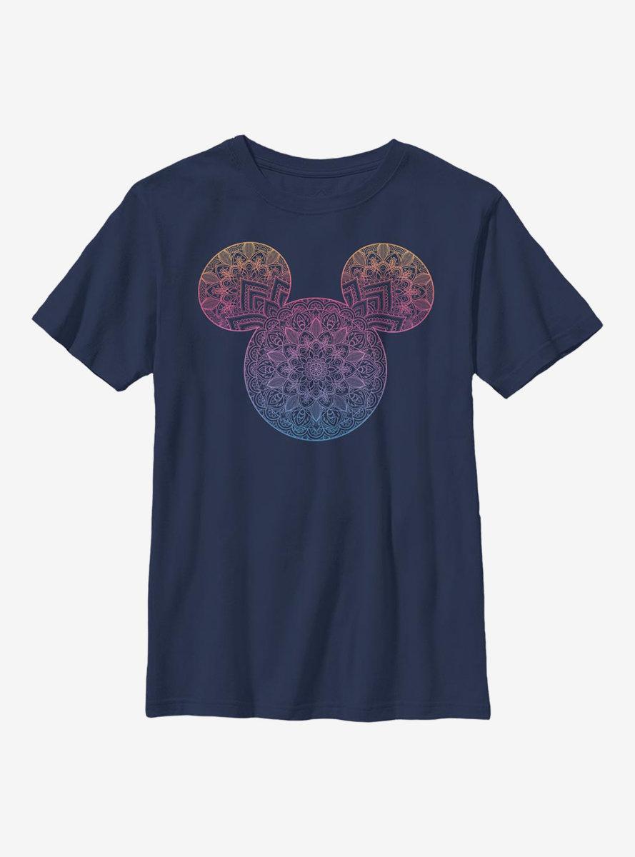 Disney Mickey Mouse Mandala Fill Youth T-Shirt