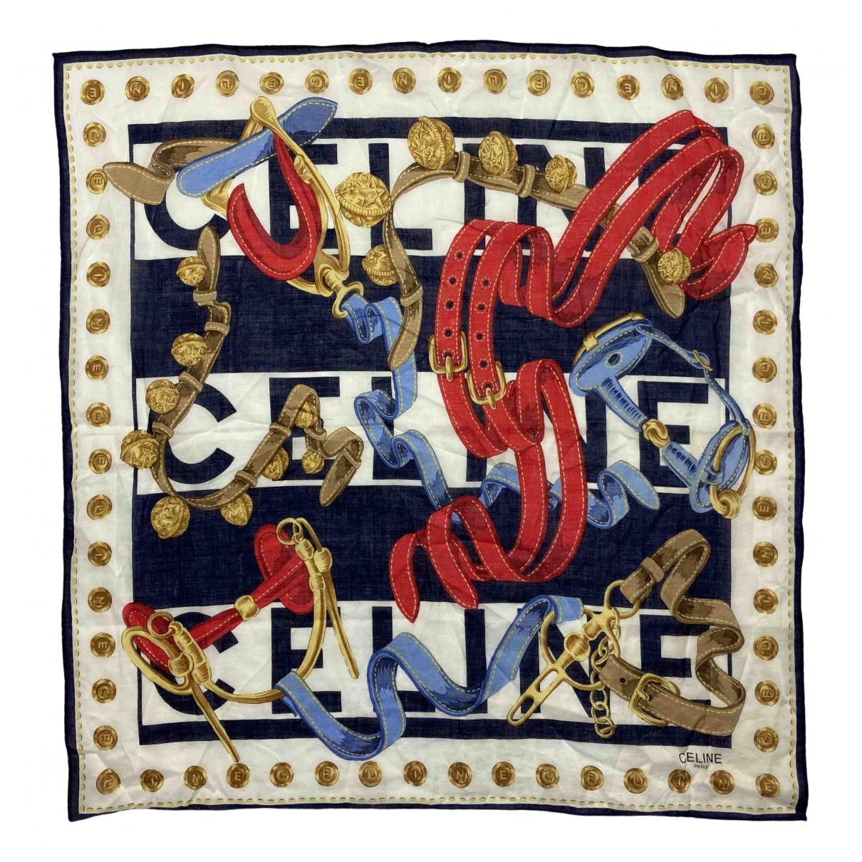 Celine \N Multicolour Cotton Silk handkerchief for Women \N