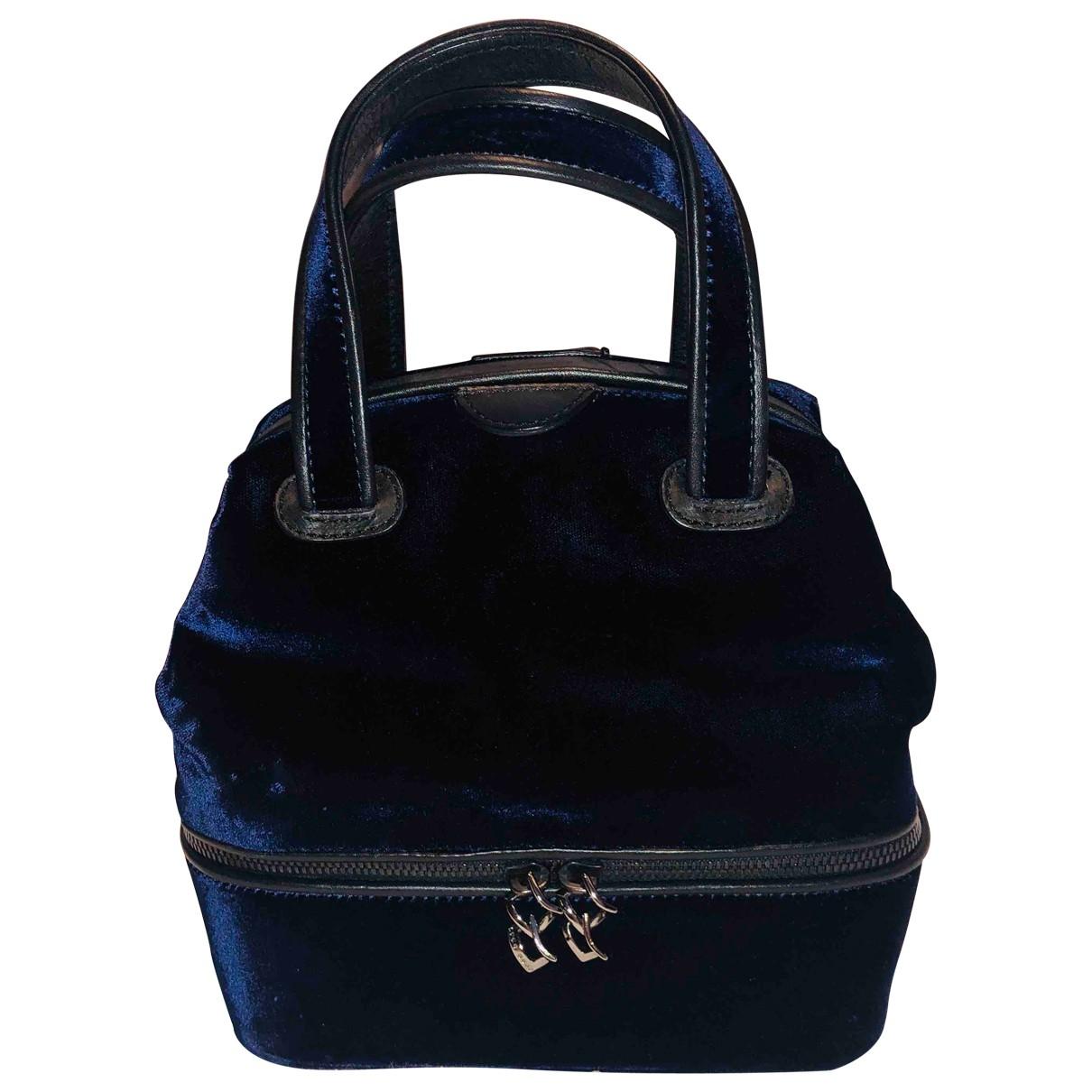 Boss \N Handtasche in  Marine Samt