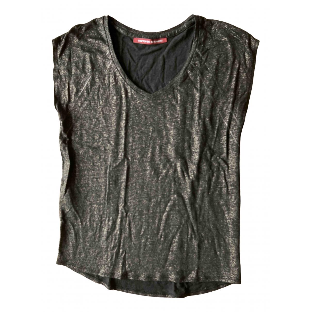 Comptoir Des Cotonniers - Top   pour femme en lin - noir