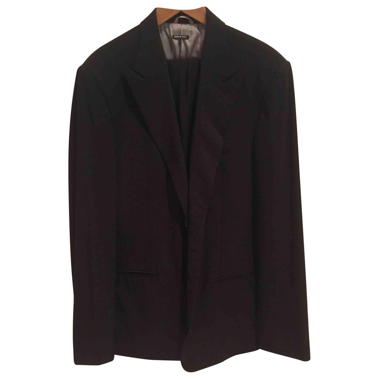 Giorgio Armani \N Black Cotton Suits for Men 56 IT