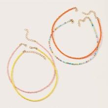 4 Stuecke Kleinkind Maedchen Halskette mit Perlen