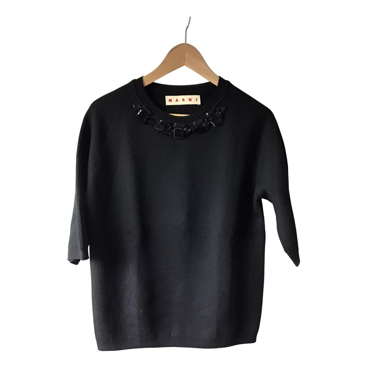 Marni - Pull   pour femme en laine - noir
