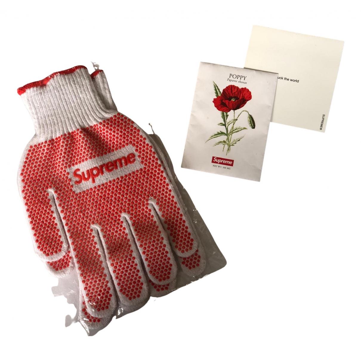 Supreme \N Cotton Gloves for Men 25 cm