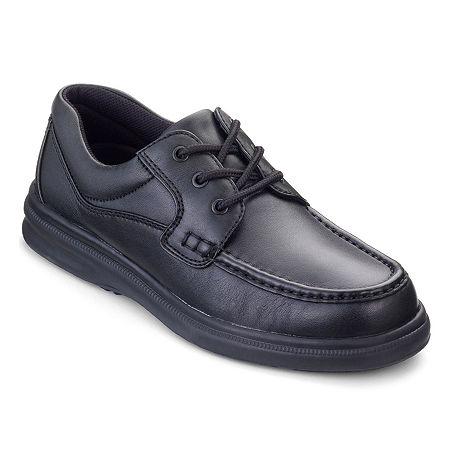 Hush Puppies Gus Mens Moc-Toe Oxford Shoes, 7 1/2 Medium, Black