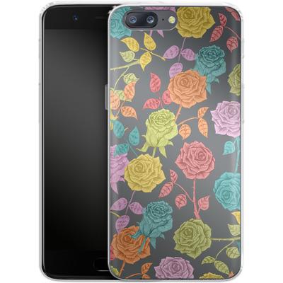 OnePlus 5 Silikon Handyhuelle - Roses von Bianca Green
