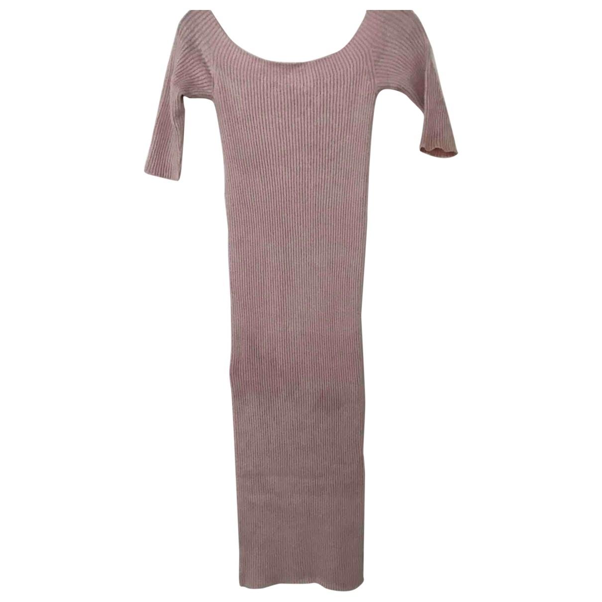Helmut Lang \N Kleid in  Rosa Viskose