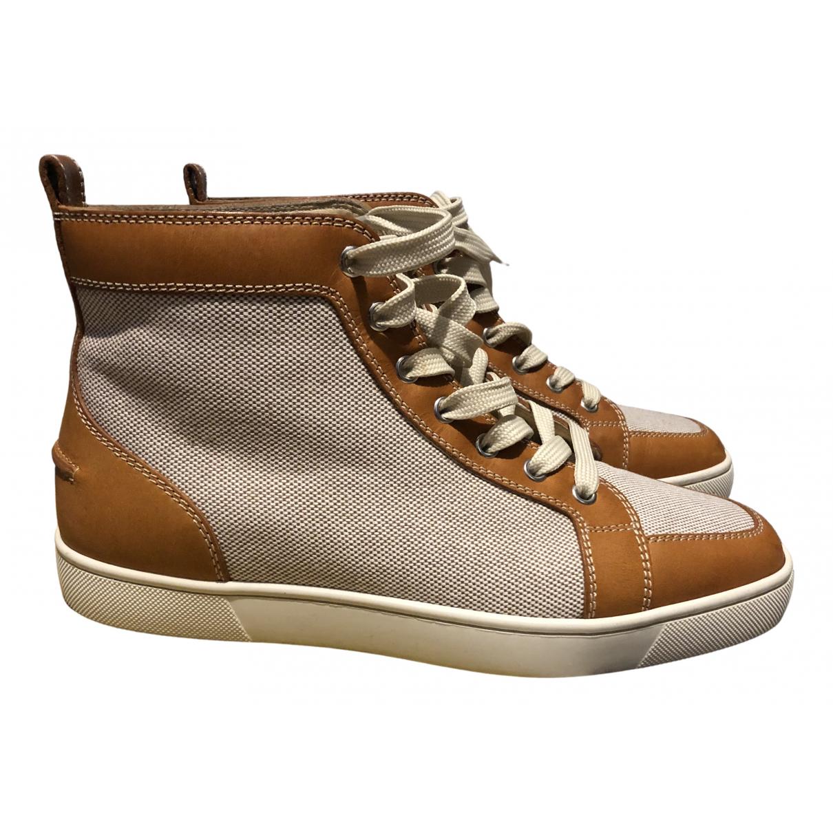 Christian Louboutin \N Sneakers in  Beige Leinen