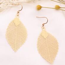 Hollow Out Leaf Drop Earrings