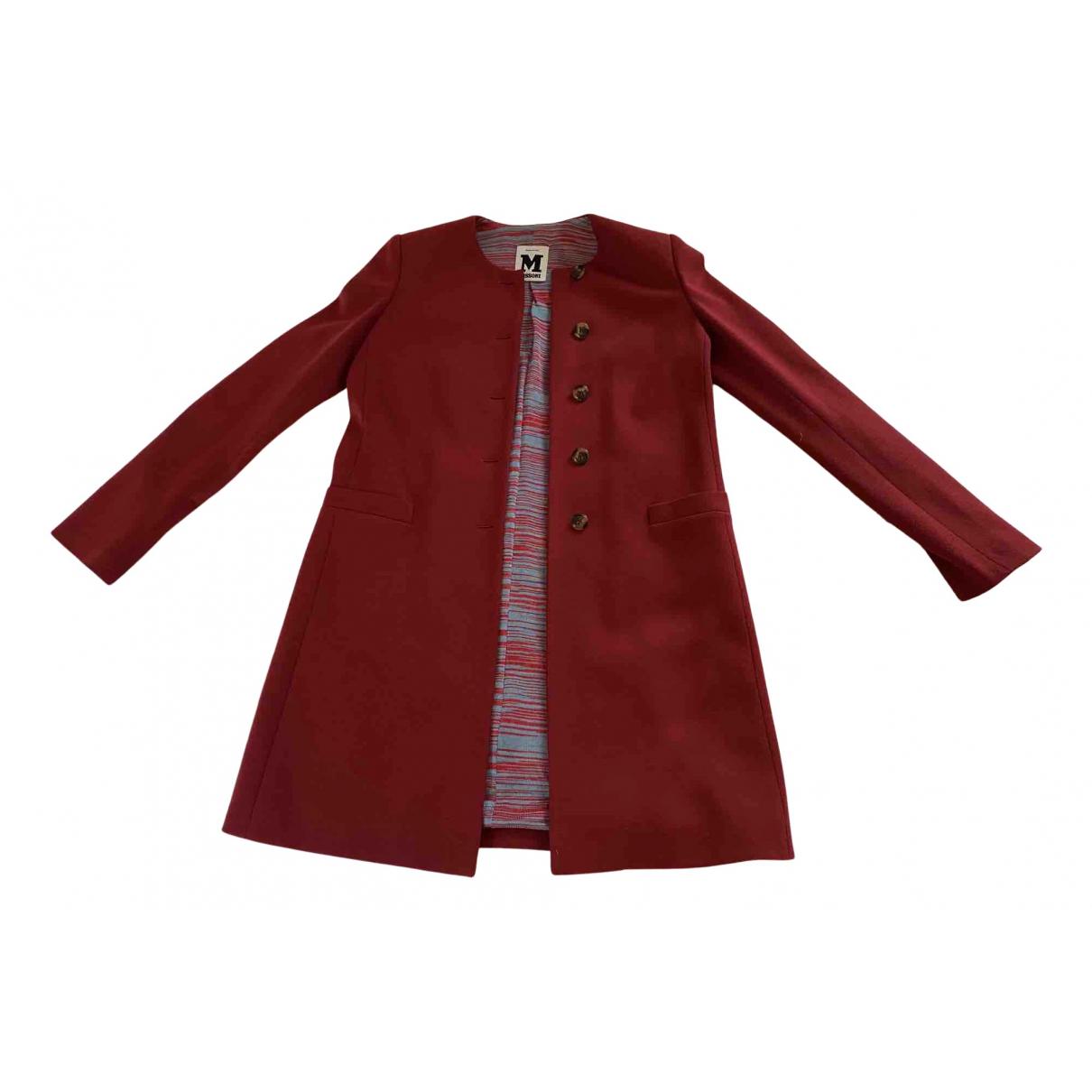 M Missoni - Manteau   pour femme en laine - rouge