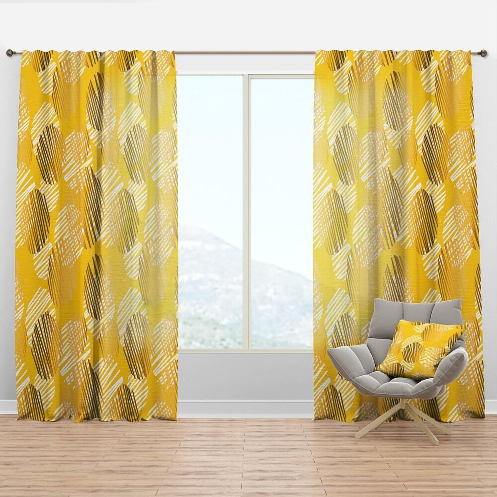 Designart 'Abstract Retro Geometric III' Mid-Century Modern Curtain Panel (50 in. wide x 90 in. high - 1 Panel)