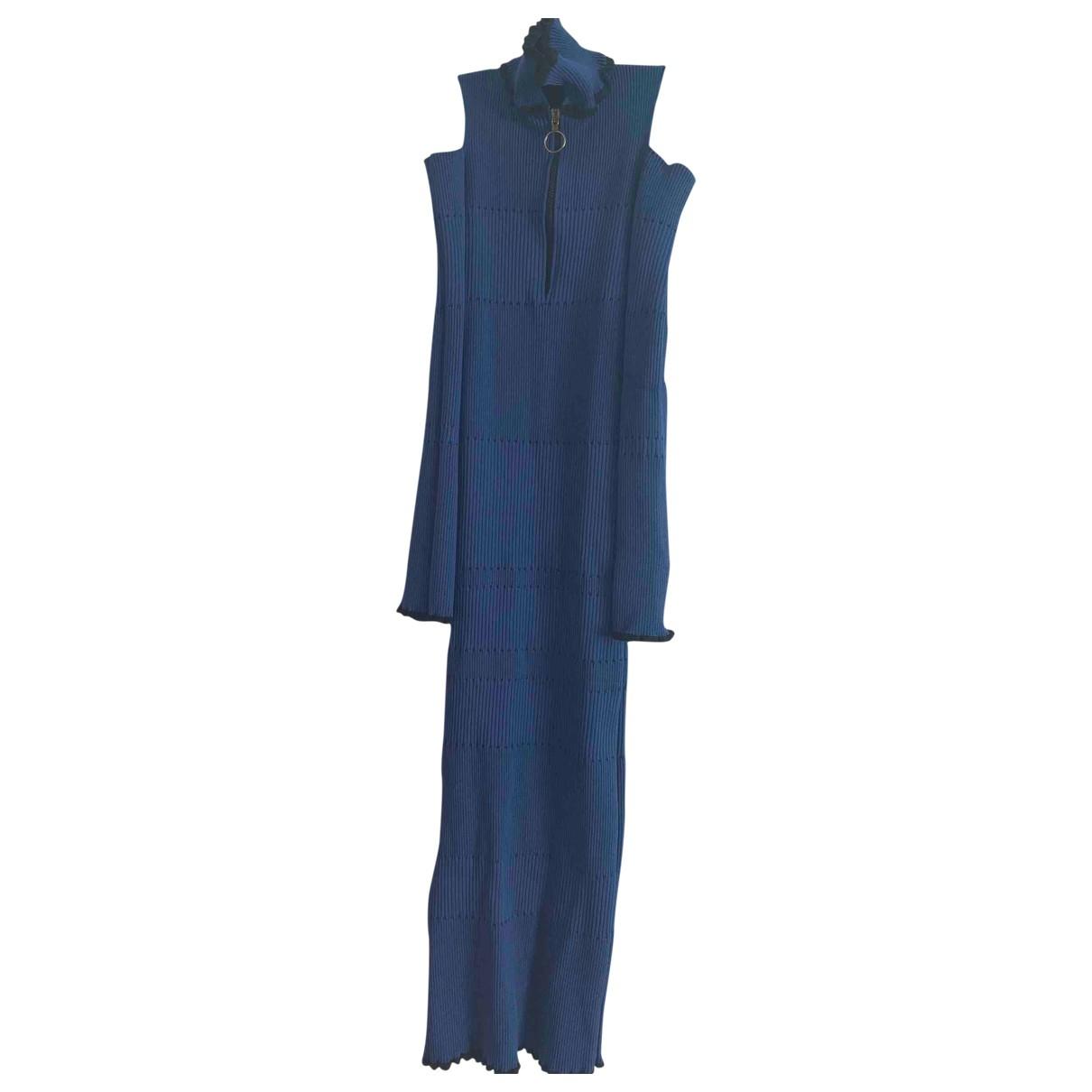 Pinko \N Kleid in  Blau Baumwolle - Elasthan