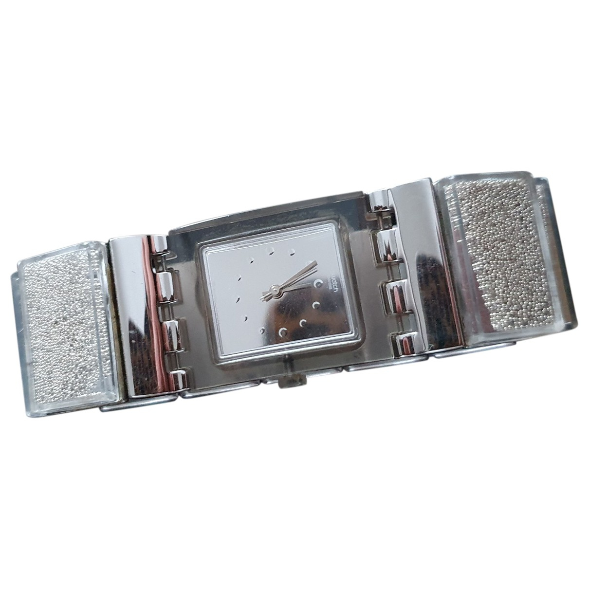 Swatch - Montre   pour femme en acier - argente