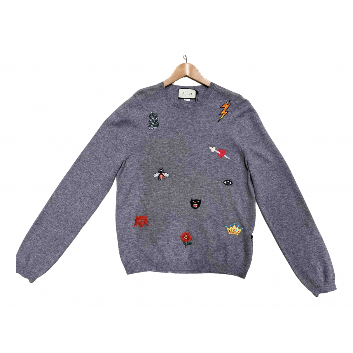 Gucci \N Pullover.Westen.Sweatshirts  in  Grau Wolle