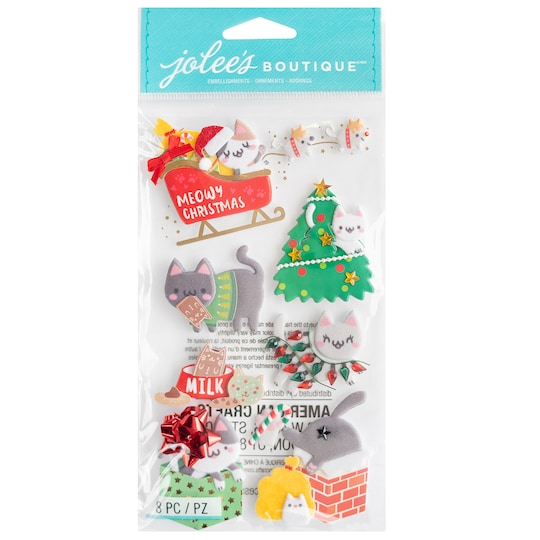 Jolee's Boutique® Meowy Christmas Stickers   Michaels®