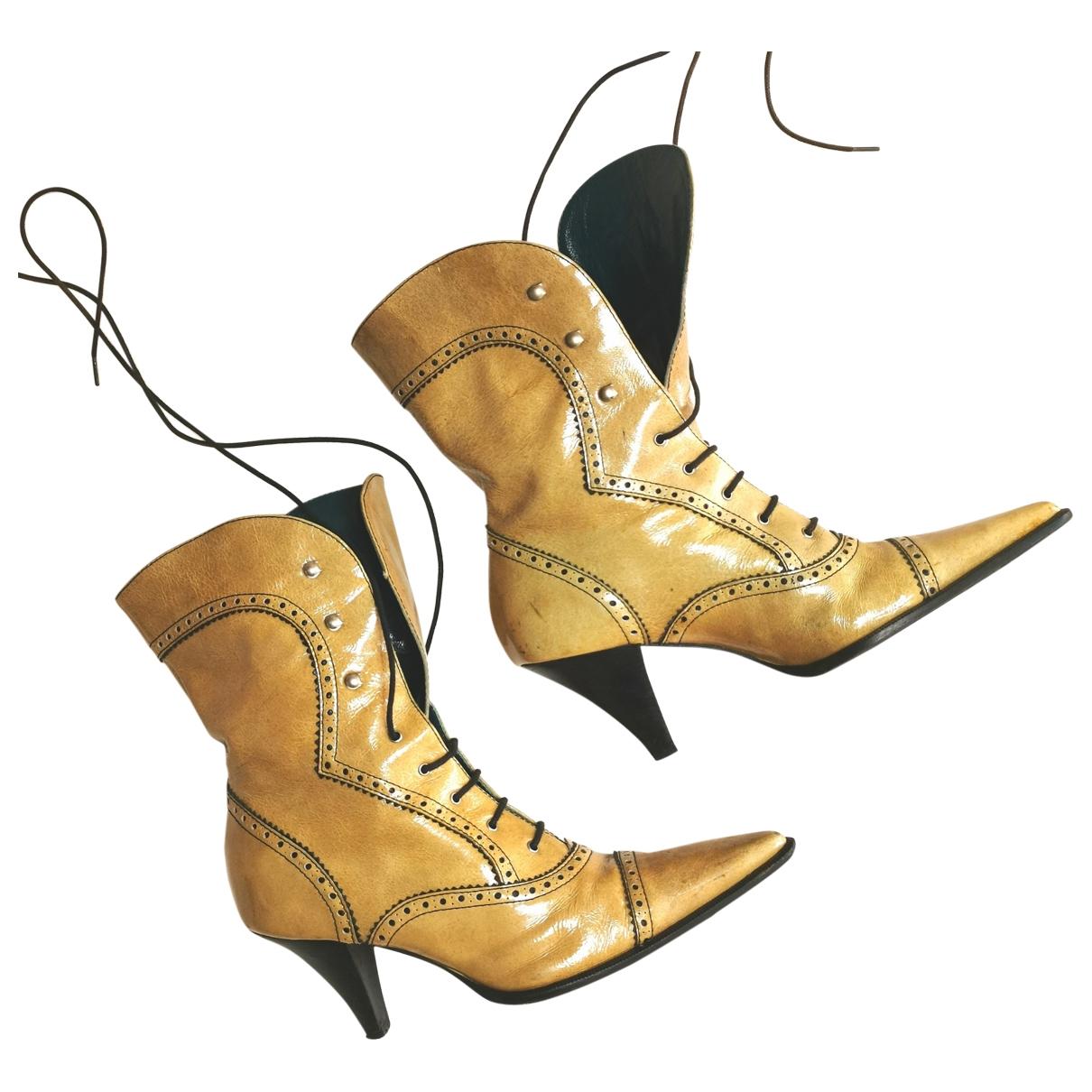 Coccinelle - Bottes   pour femme en cuir - beige