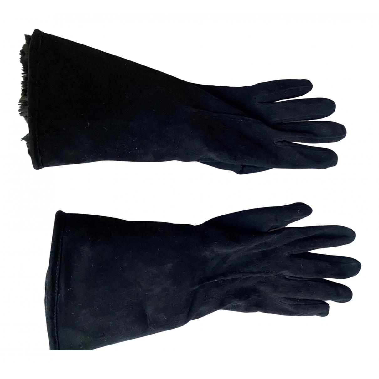 Valentino Garavani \N Handschuhe in  Schwarz Leder