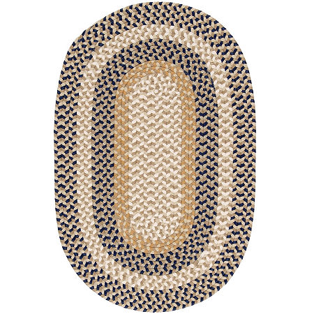 Colonial Mills Plymouth Reversible Braided Indoor/Outdoor Oval Rug, One Size , Blue