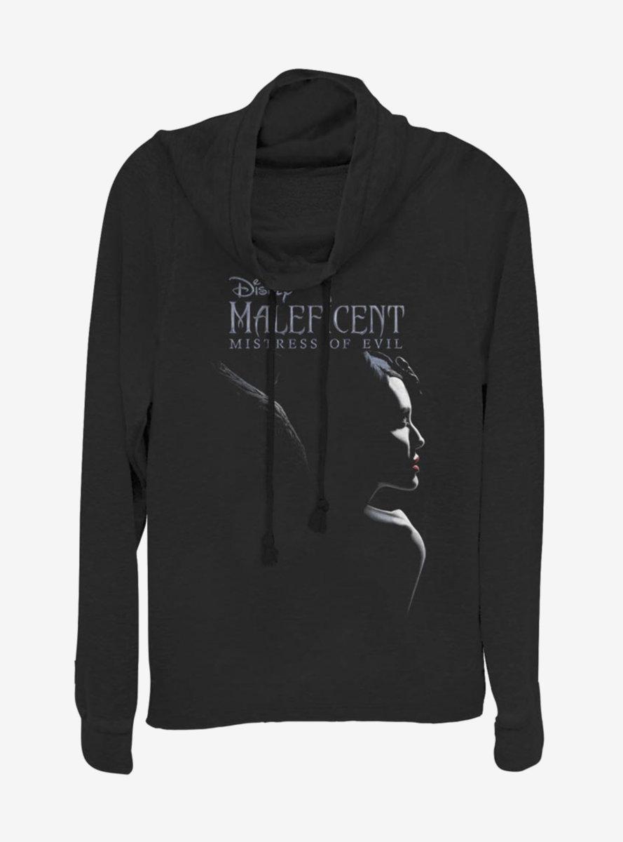 Disney Maleficent: Mistress Of Evil Movie Logo Cowlneck Long-Sleeve Womens Top