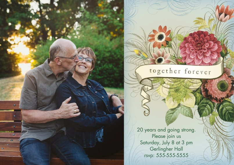 Anniversary 5x7 Cards, Premium Cardstock 120lb, Card & Stationery -Together Forever