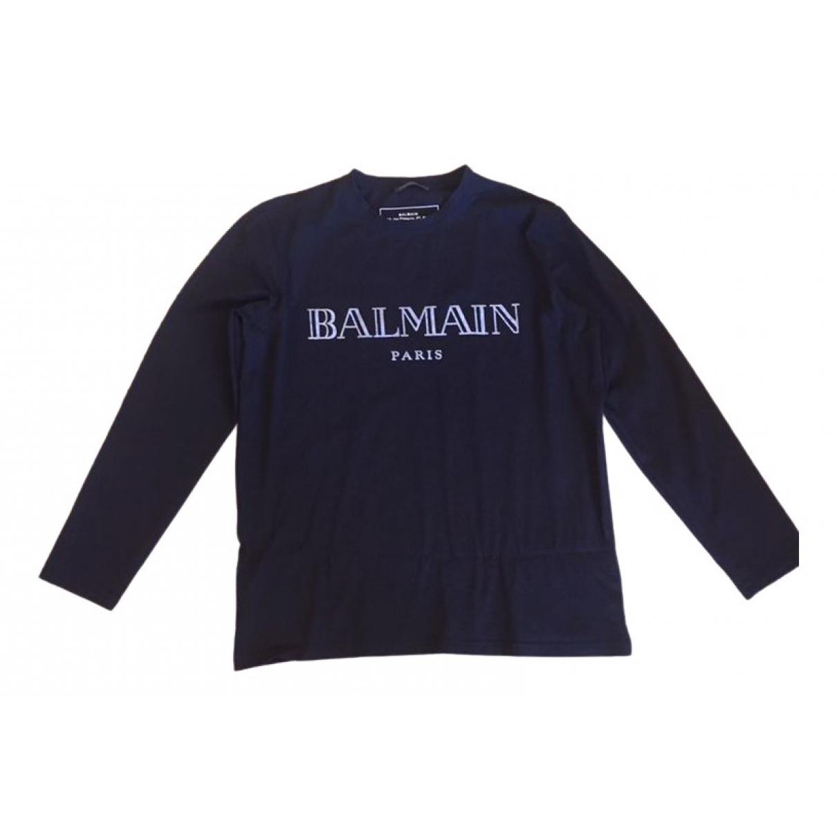 Balmain - Pull   pour femme en coton - noir