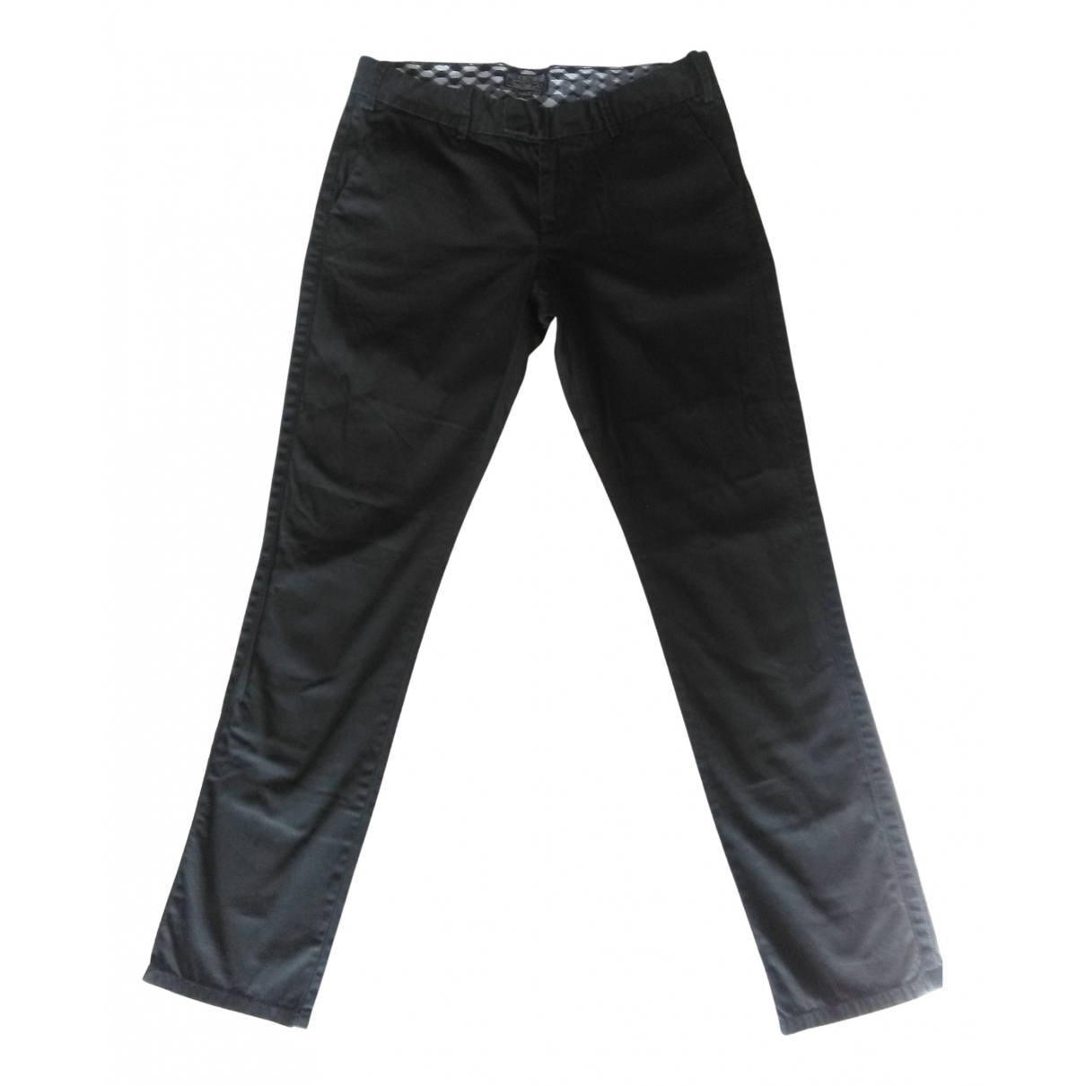 Polo Ralph Lauren N Black Cotton Trousers for Women 38 FR