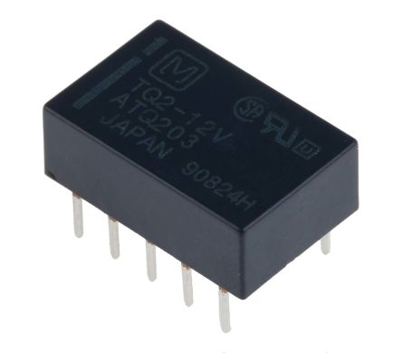 Panasonic DPDT PCB Mount, High Frequency Relay 12V dc