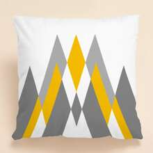 1pc Geometric Print Cushion Cover Without Filler