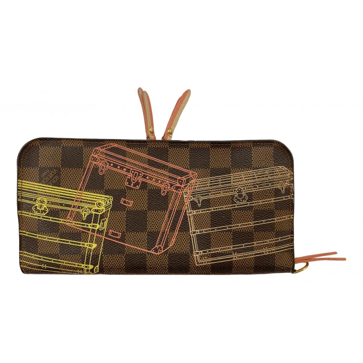 Louis Vuitton Insolite Portemonnaie in  Braun Leinen