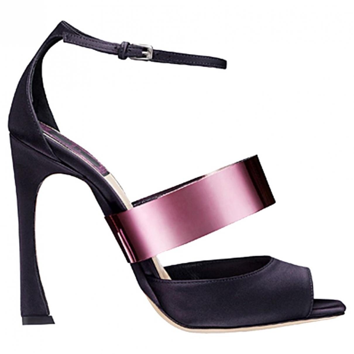 Christian Dior \N Purple Cloth Heels for Women 39.5 EU
