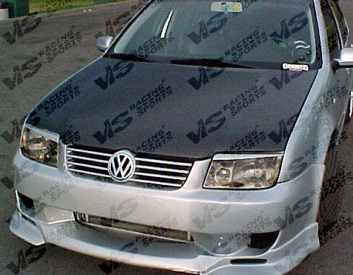VIS Racing 99VWJET4DOE-010C Carbon Fiber OEM Hood Volkswagen Jetta 99-05