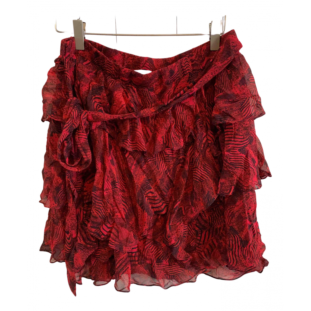 Iro N Red Leather skirt for Women 38 FR