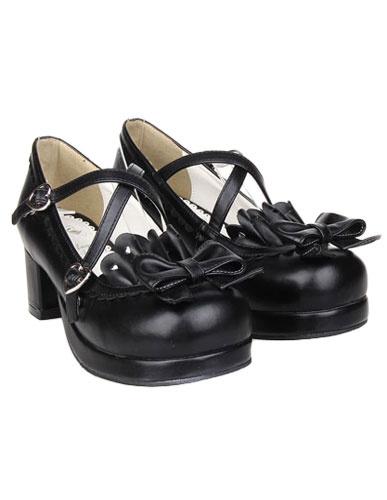 Milanoo Bow Decor Lolita Shoes