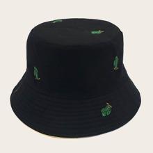 Sombrero cubo de hombres reversible