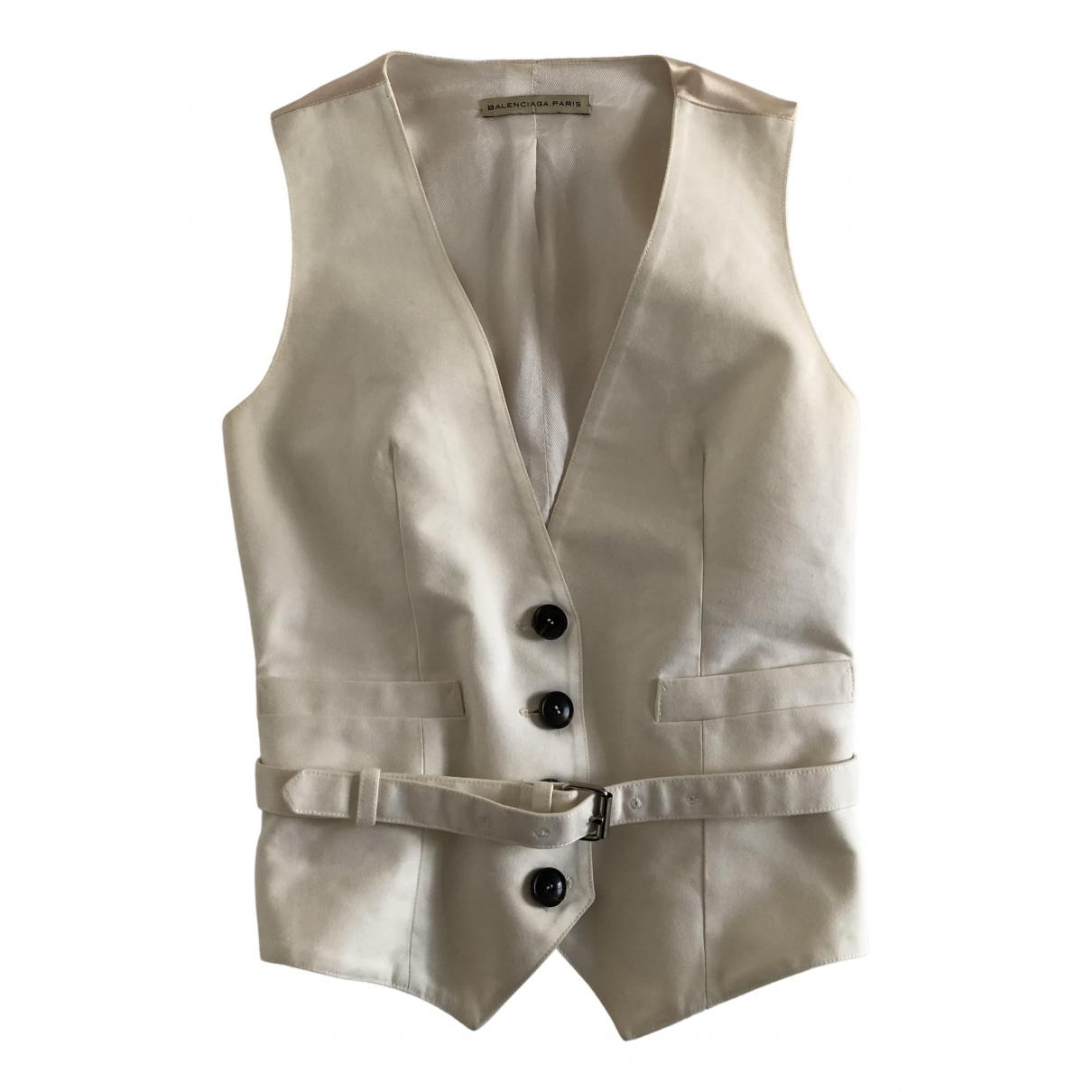 Balenciaga - Veste   pour femme en coton - blanc