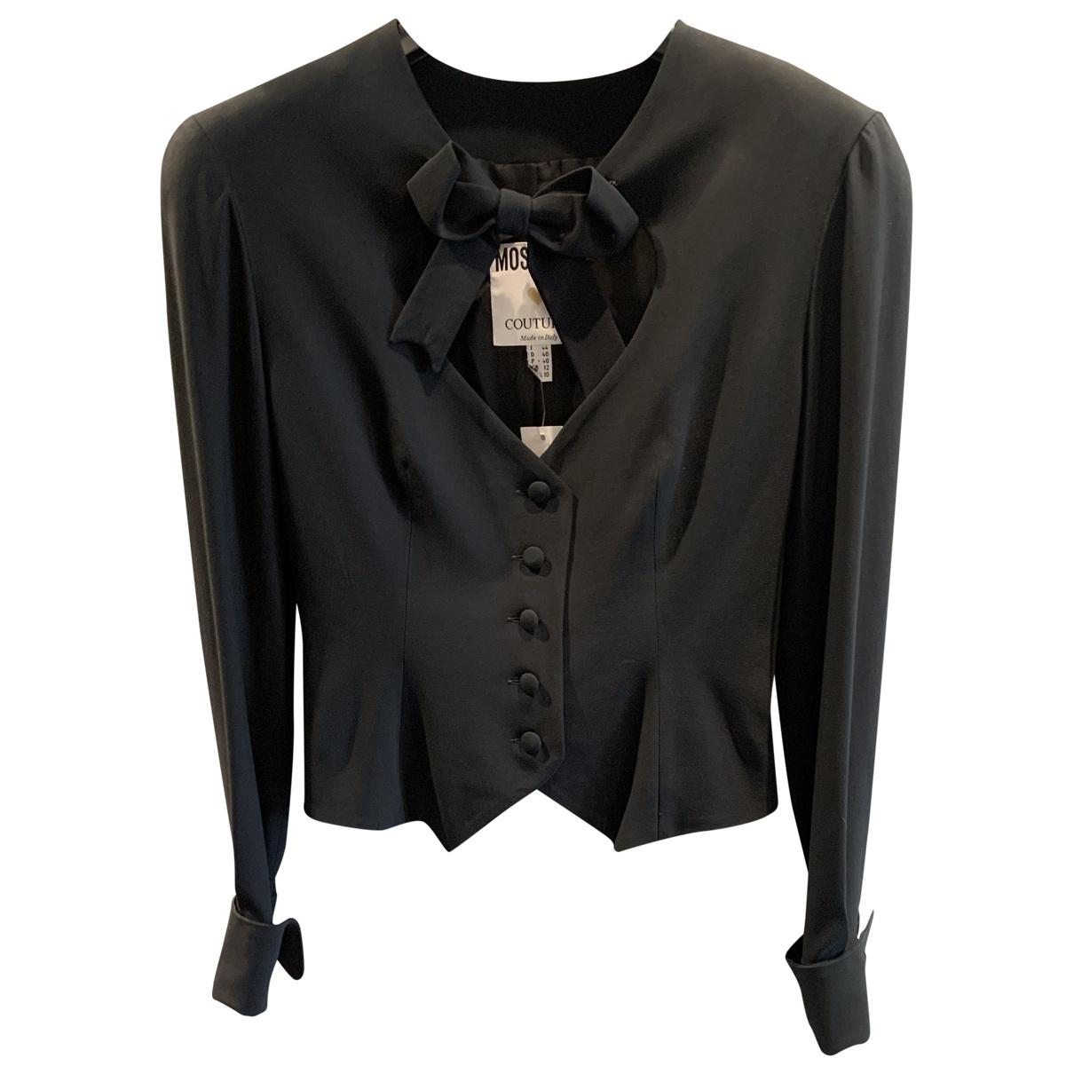 Moschino \N Black Silk  top for Women 38 IT