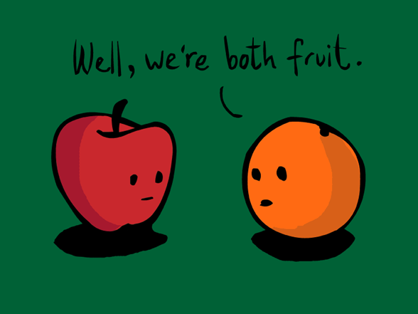 Comparing Apples To Oranges T Shirt