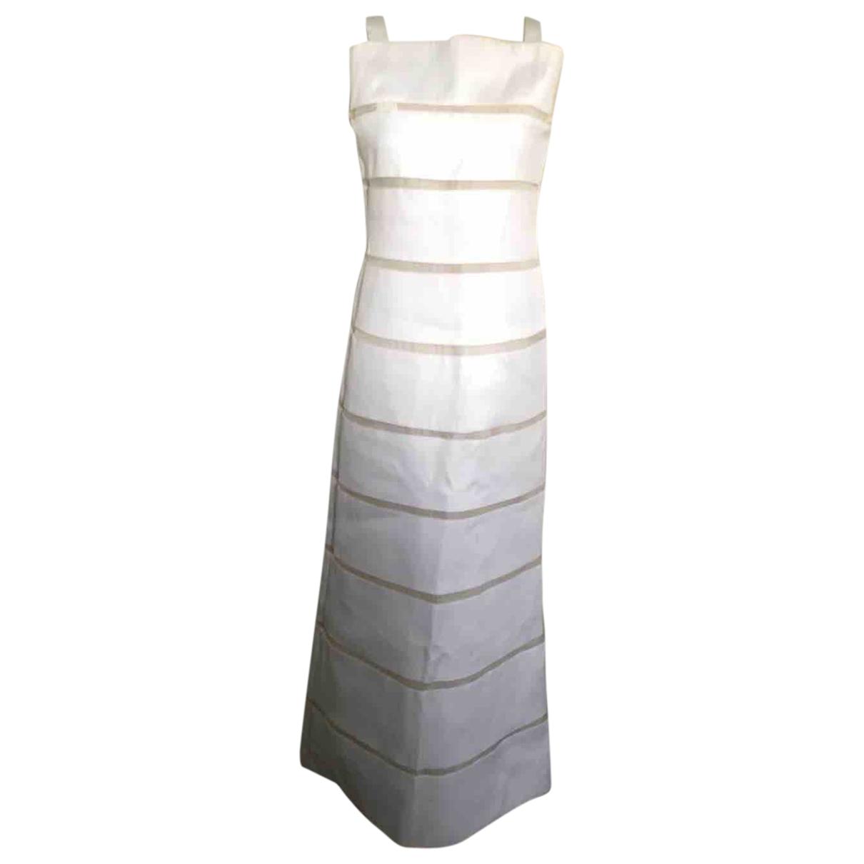 Courreges - Robe   pour femme en soie - blanc