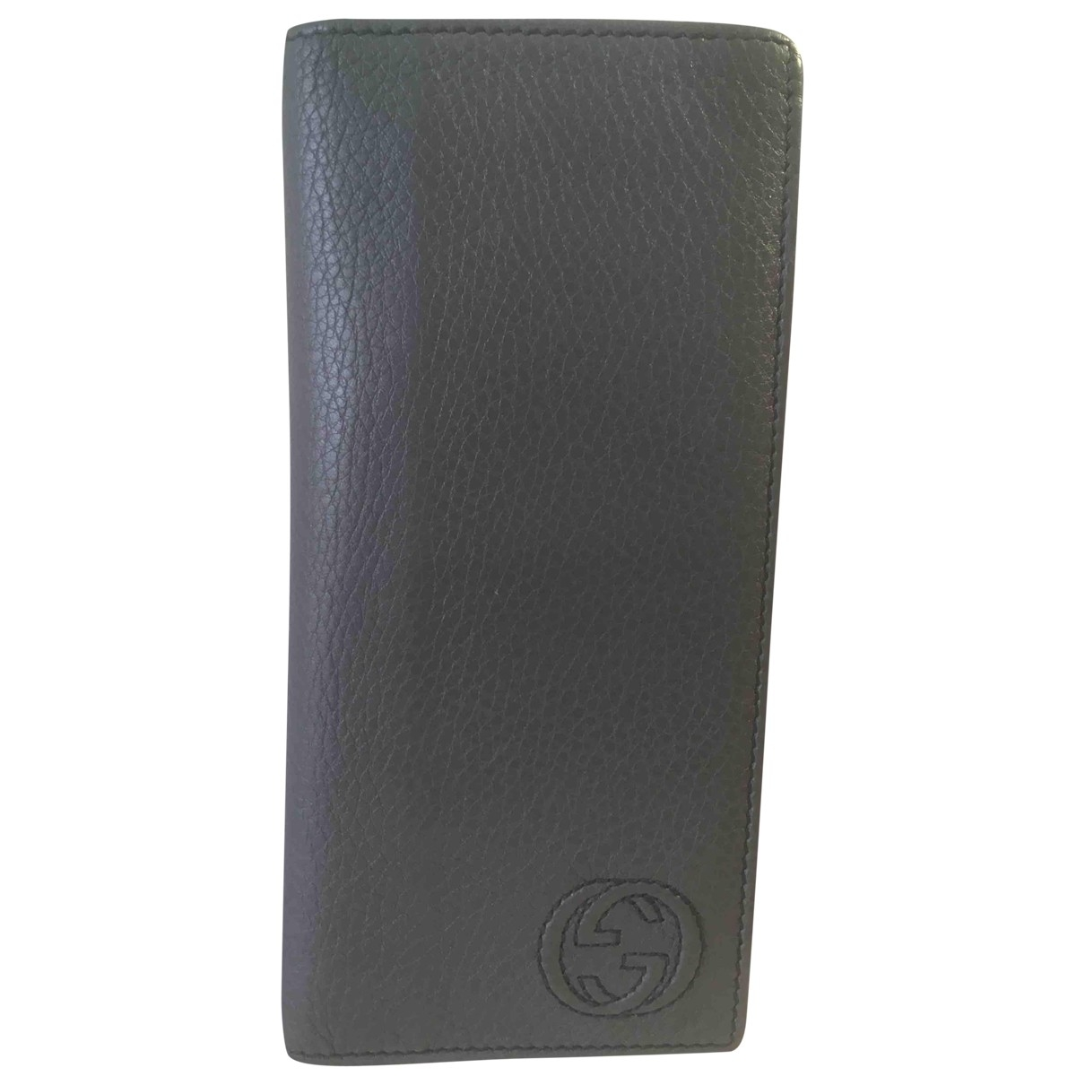 Gucci \N Anthracite Leather wallet for Women \N