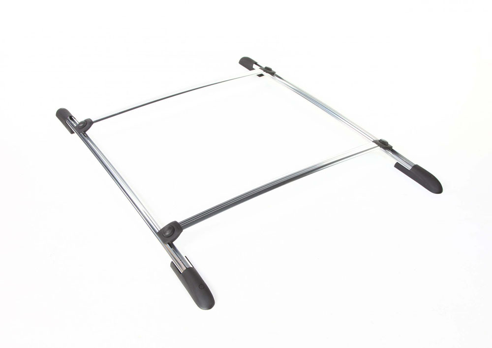 Roof Rack Complete Ready To Install 75 Lb Capacity Kit Anodized 42 Inch W x 45 Inch Long DynaSport Perrycraft DS4245-A