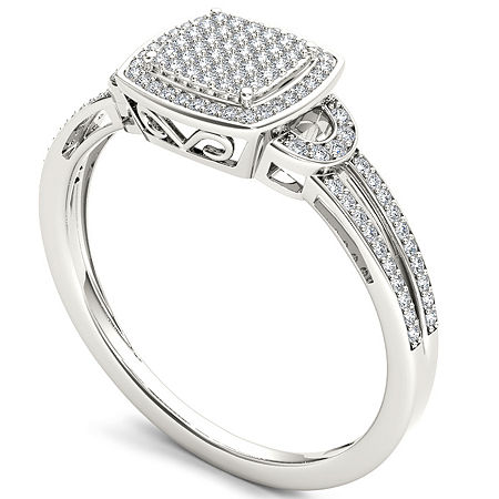 Womens 1/5 CT. T.W. Round White Diamond 10K Gold Engagement Ring, 9 , No Color Family