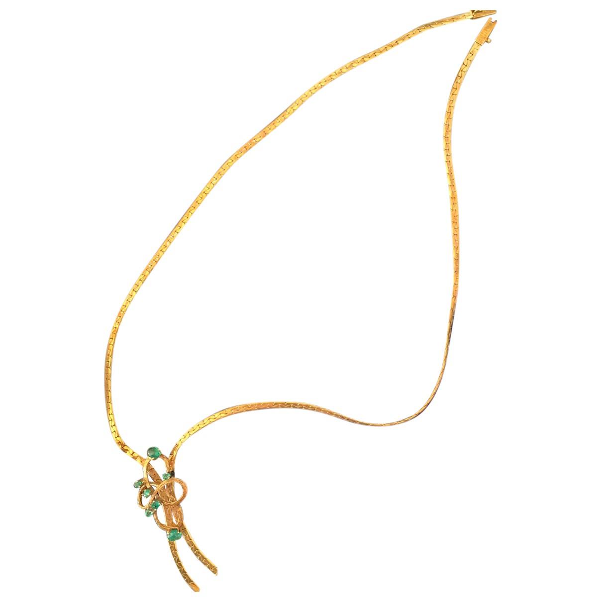 - Collier Emeraude pour femme en or jaune - vert