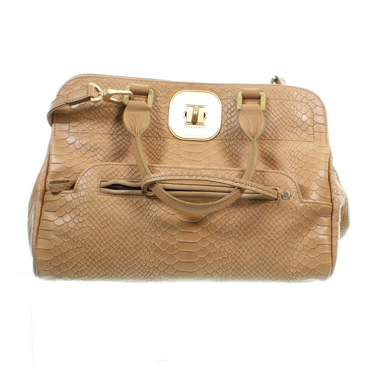 Longchamp \N Clutch in  Beige Leder