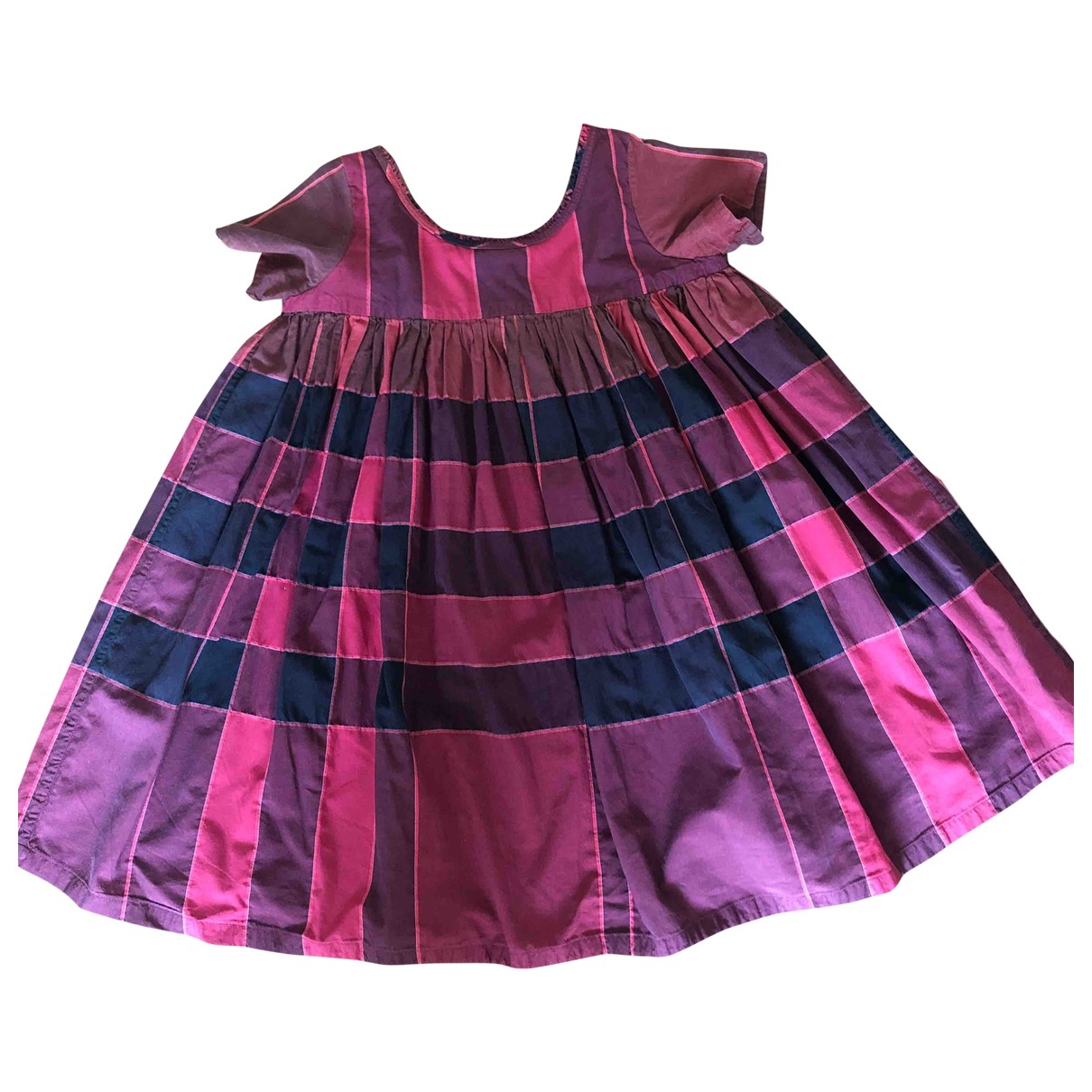 Burberry - Robe    pour enfant en coton - bordeaux