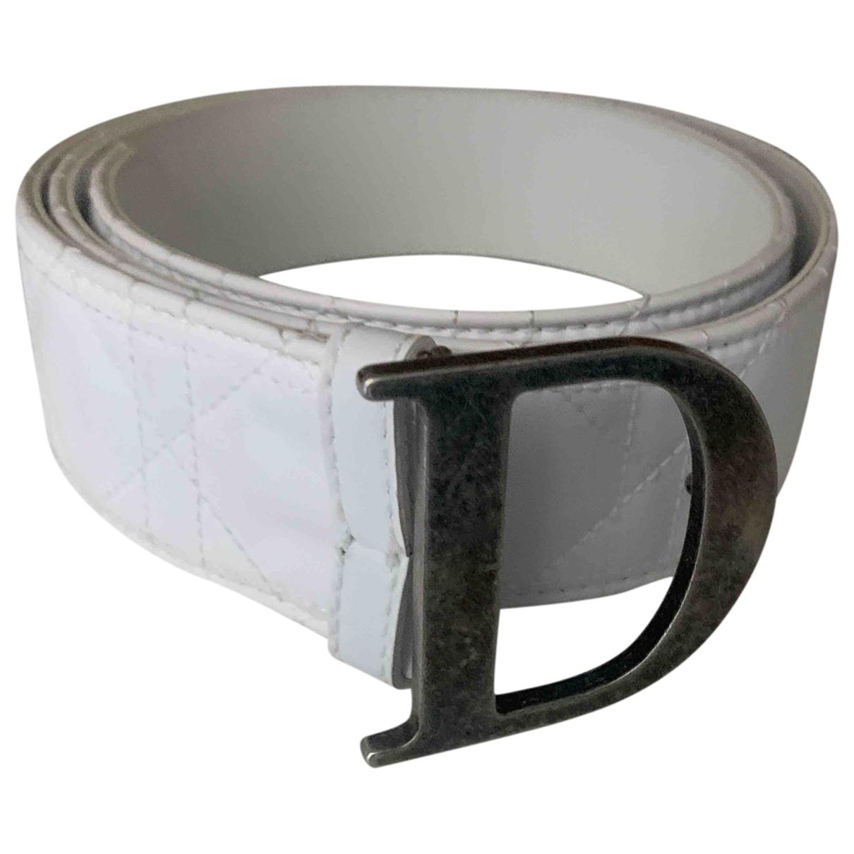 Dior \N White Leather belt for Women 90 cm