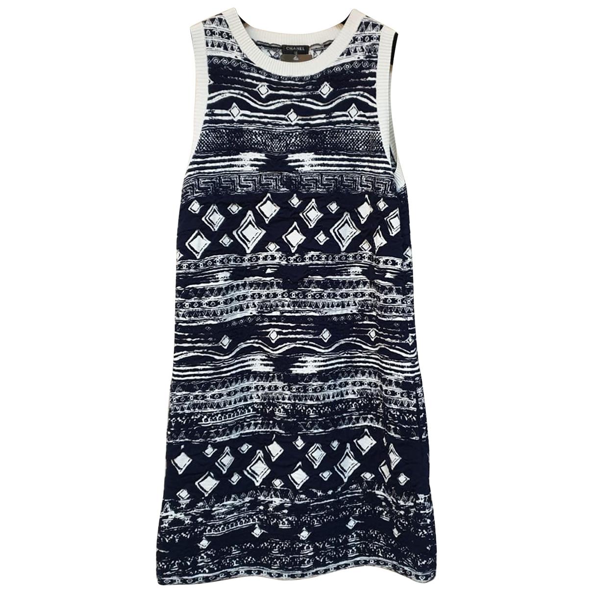 Chanel \N Kleid in  Marine Viskose