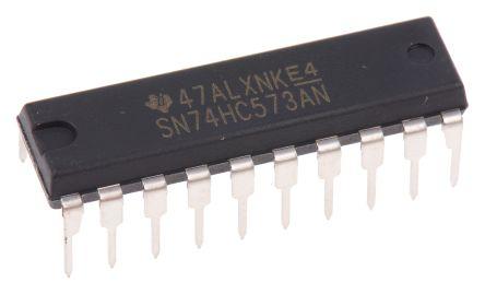 Texas Instruments SN74HC573AN 8bit-Bit Latch, Transparent D Type, 3 State, 20-Pin PDIP