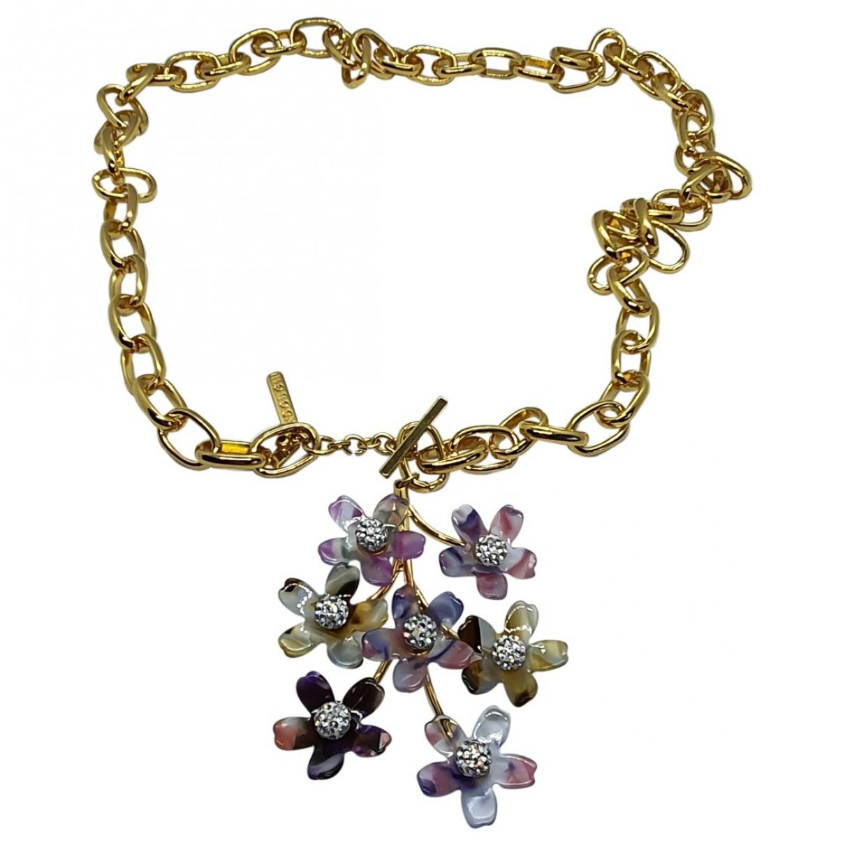 Lele Sadoughi \N Halskette in  Gold Kristall