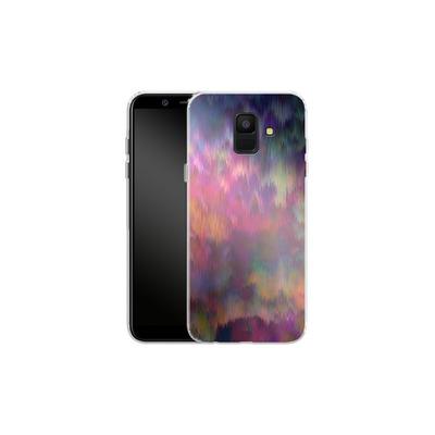 Samsung Galaxy A6 Silikon Handyhuelle - Sunset Storm von Amy Sia
